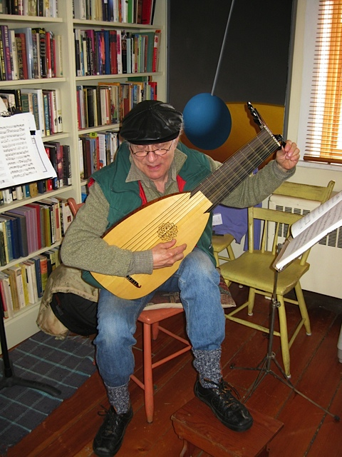 Donald Druick and lute