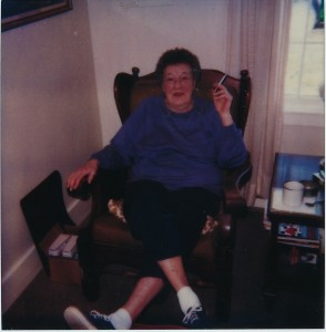 Germ in 1986, shortly before she died in this chair. Photo credit: Janet Hayward Burnham & Bill Hayward