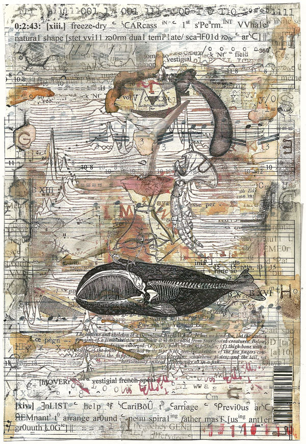 Ark Codex 0:2:43 13x19 cm, multimedia (collage/frottage) Derek White