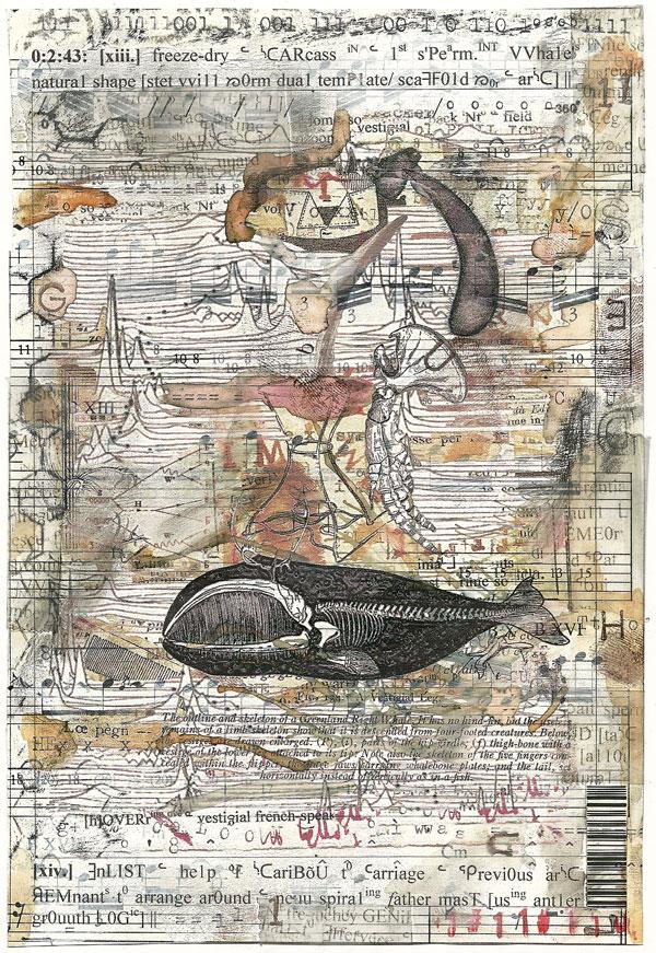 Ark Codex 0:2:43 13x19 cm, multimedia (collage/frottage) Derek White