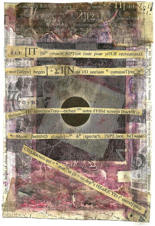 Ark Codex 0:1:1 13x19 cm, multimedia (collage/frottage) Derek White