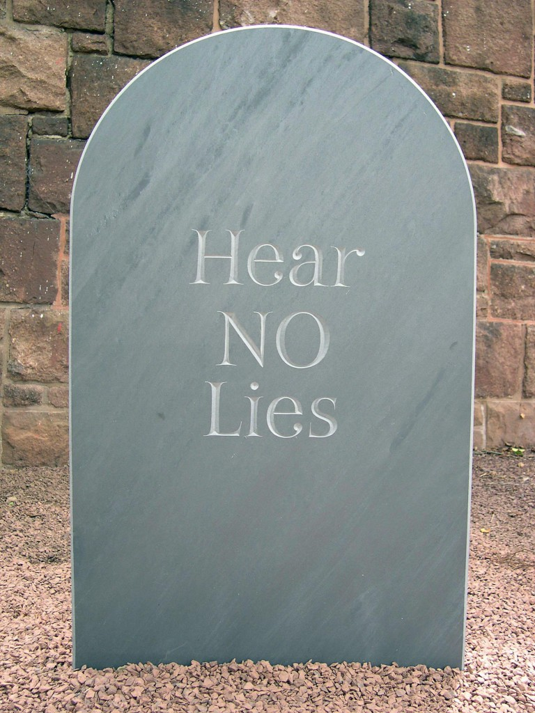 1 Headstone (Laying NO to Rest)
