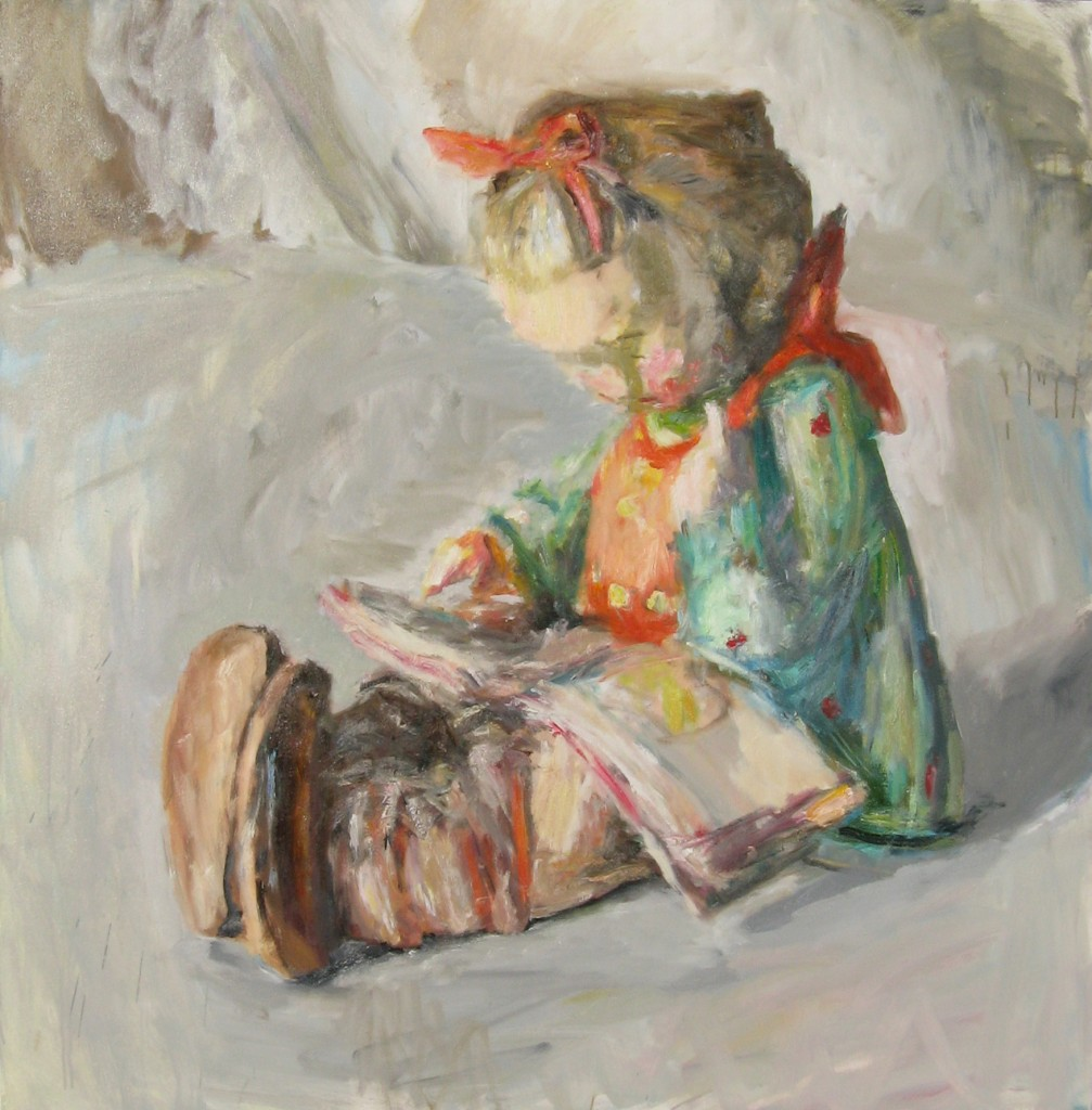 Hummel Figurine, 2011, oil on canvas, 56 x 57 in., private collection