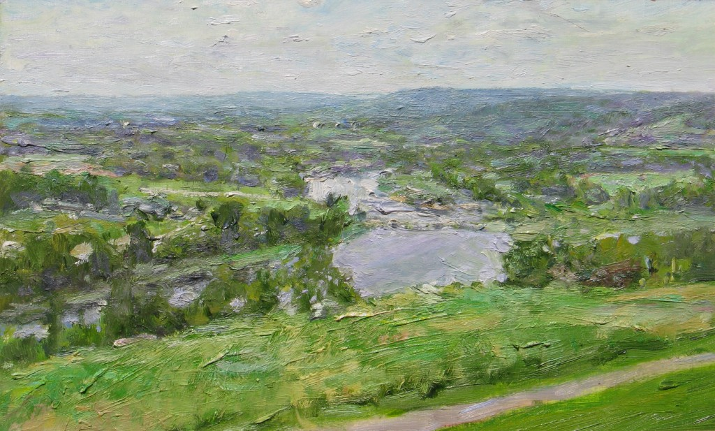 View from Everetts, 2011, oil on board, 12.75 x 21 in. private collection