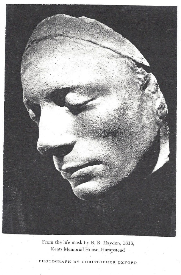 From the life mask by B. R. Haydon, 1816, Keats Memorial House, Hampstead; Photograph by Christopher Oxford