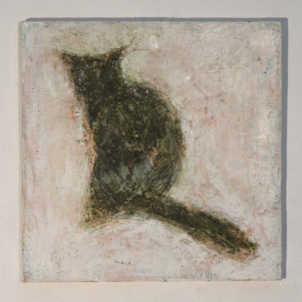 LaVerdiere-Cat2008-Encaustic12x12_