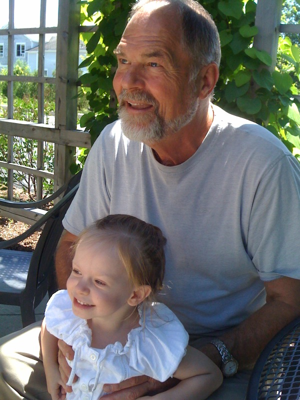 with grand daughter cora