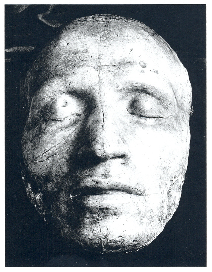 Death Mask paper copy Pushkin