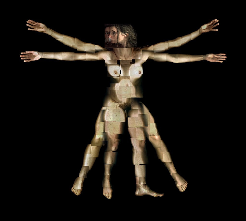 Vitruvian Me from the series The Body Ineffable (Les maux non dits), 88.9 x 81.3cm, Inkjet Print (2008)