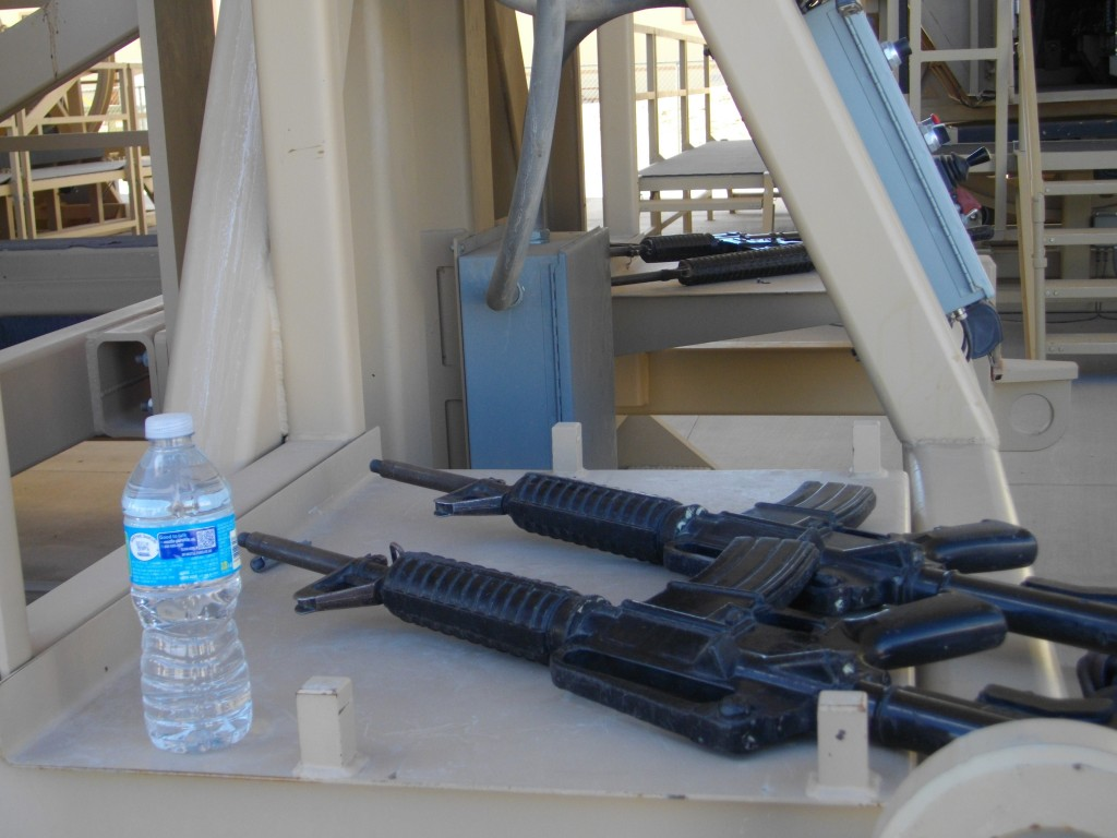Equipment waiting for us at the MRAP