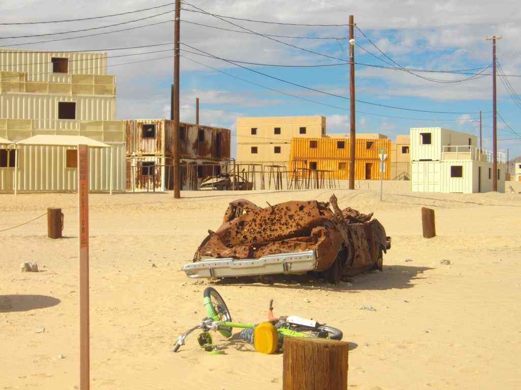 The mockup of an Iraqi village for training