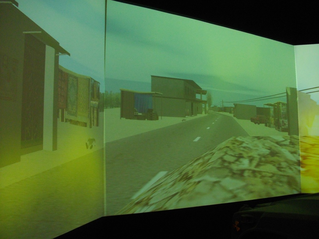 video view of Iraq highway created for training