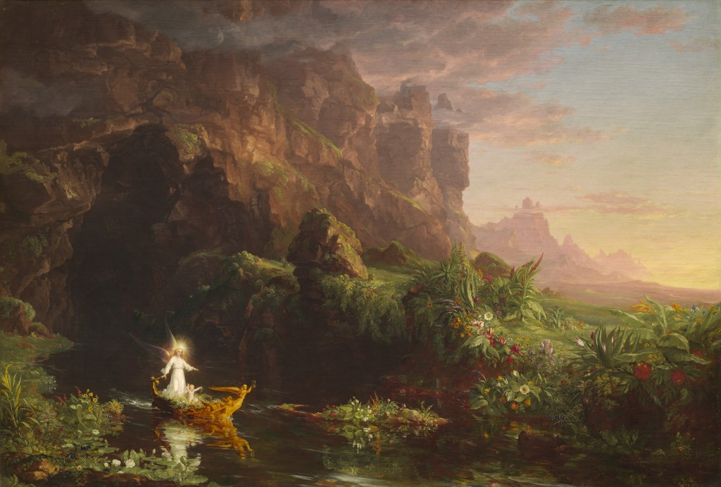 Thomas_Cole_-_The_Voyage_of_Life_Childhood,_1842_(National_Gallery_of_Art)